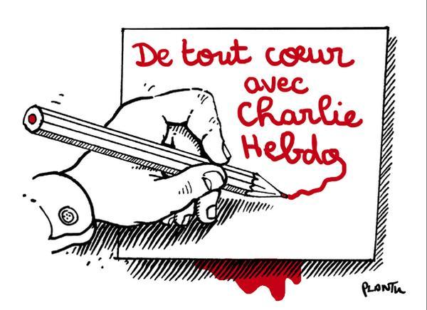 De tout coeur avec Charlie Hebdo.