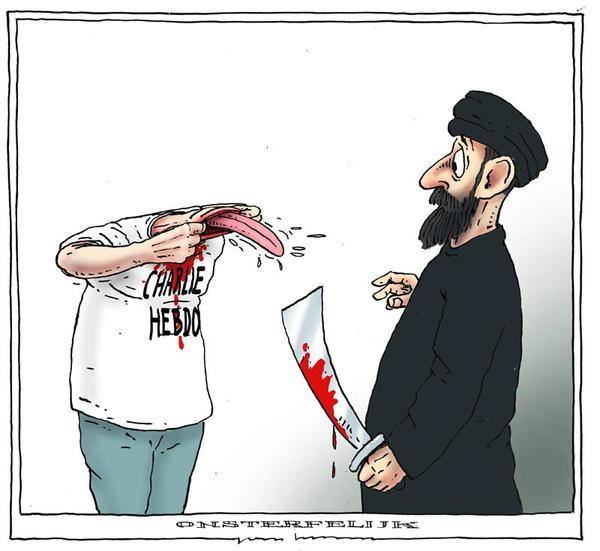 Charlie Hebdo. Nooit opzij. By Joep Bertrams