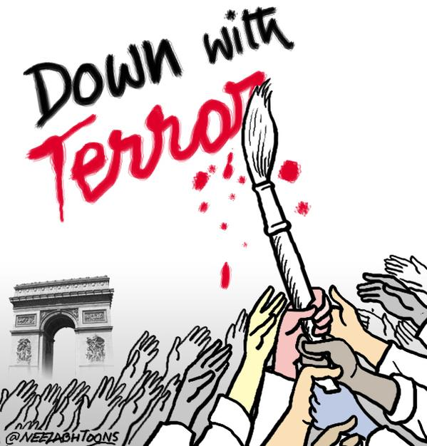 Horrible attack.Cartoonists across the world are uniting against bloodshed and violence. By Neelabh Banerjee
