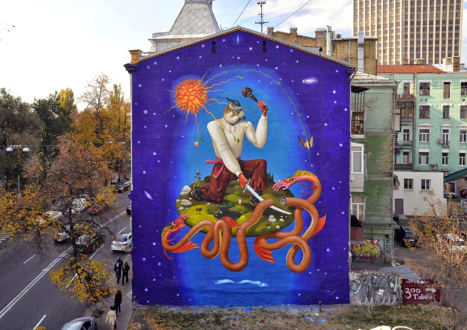 AEC from Interesni Kazki- new mural in Kiev, Ukraine