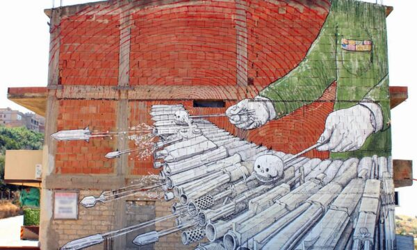 Amazing Intricate Street Art Murals That Protest Against War And Surveillance