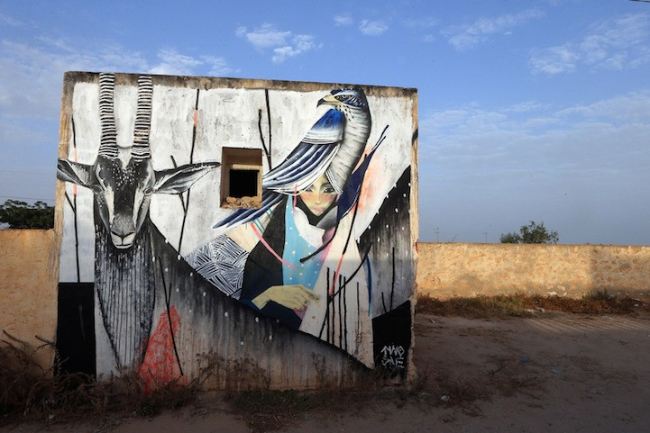 Beautiful street art project in Tunisie