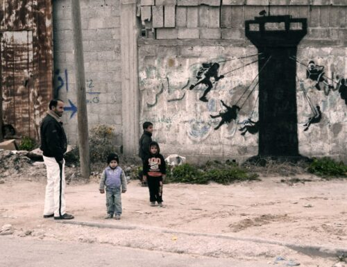 Banksy unveils a new series of pieces in Gaza, Palestine (by Street Art News)