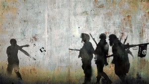 'Demonstration'-Tammam Azzam uses visual composites of the conflict that have resonated with viewers [Tammam Azzam]