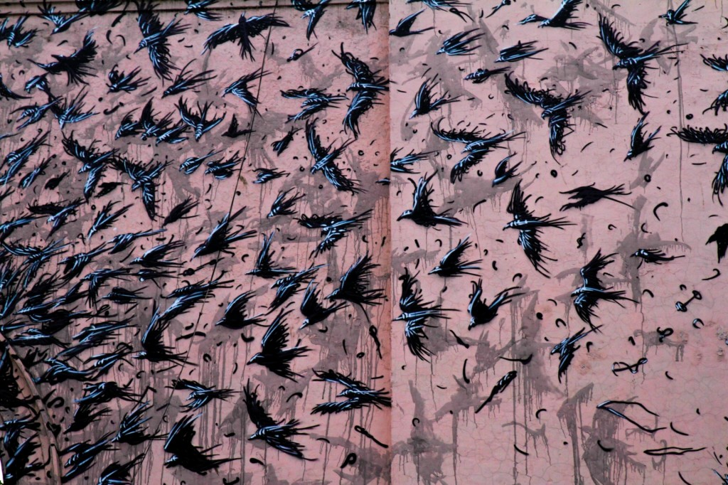 DALeast, an artist from China, created this work after travelling across India Photograph: Akshat Nauriyal (By The Guardian)