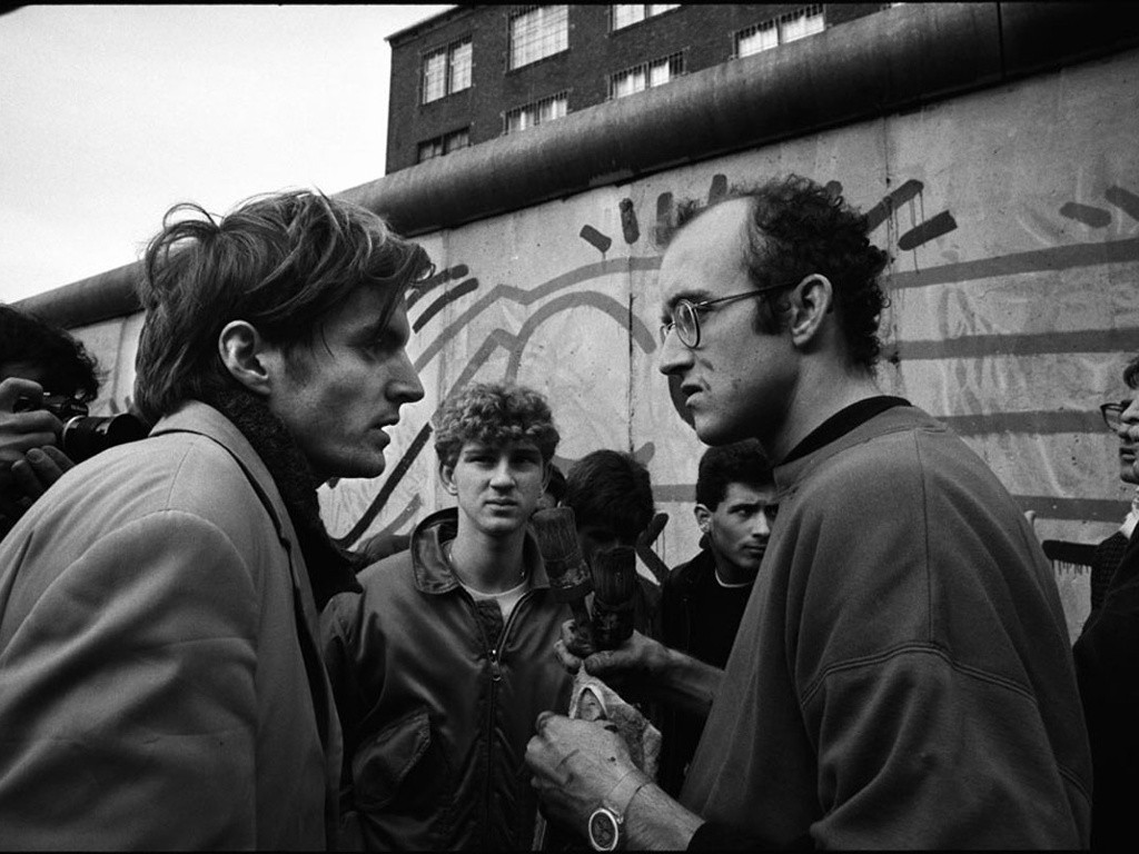 On 23 October 1986, I heard on the radio that Keith Haring was in Berlin to paint the Wall at Checkpoint Charlie. I went there and saw that my Statues of Liberty had all been painted over with yellow paint. I talked to Keith and he was embarrassed and apologised. He said: 'In New York you can get killed for that'. He was invited over and the section of Wall had been pre-prepared for him. The yellow was very transparent so you could see my statues through it. I was angry, but it was not his fault. Keith was a great guy and a great artist.