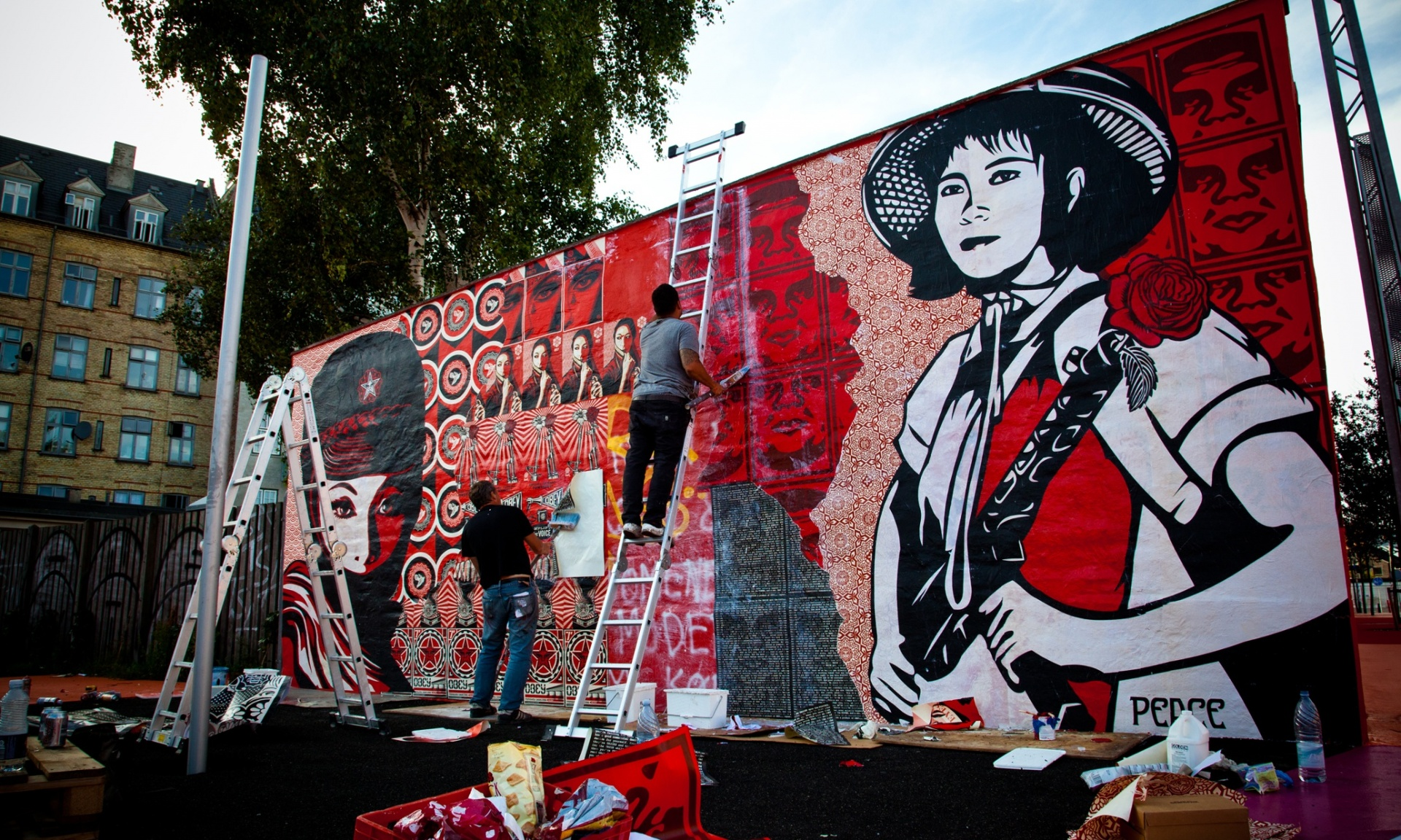 Shepard Fairey is one of the street artists supporting Google's project. Photograph: PR